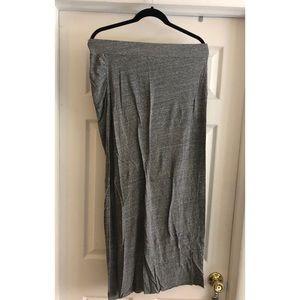 Free people beach side slit maxi skirt